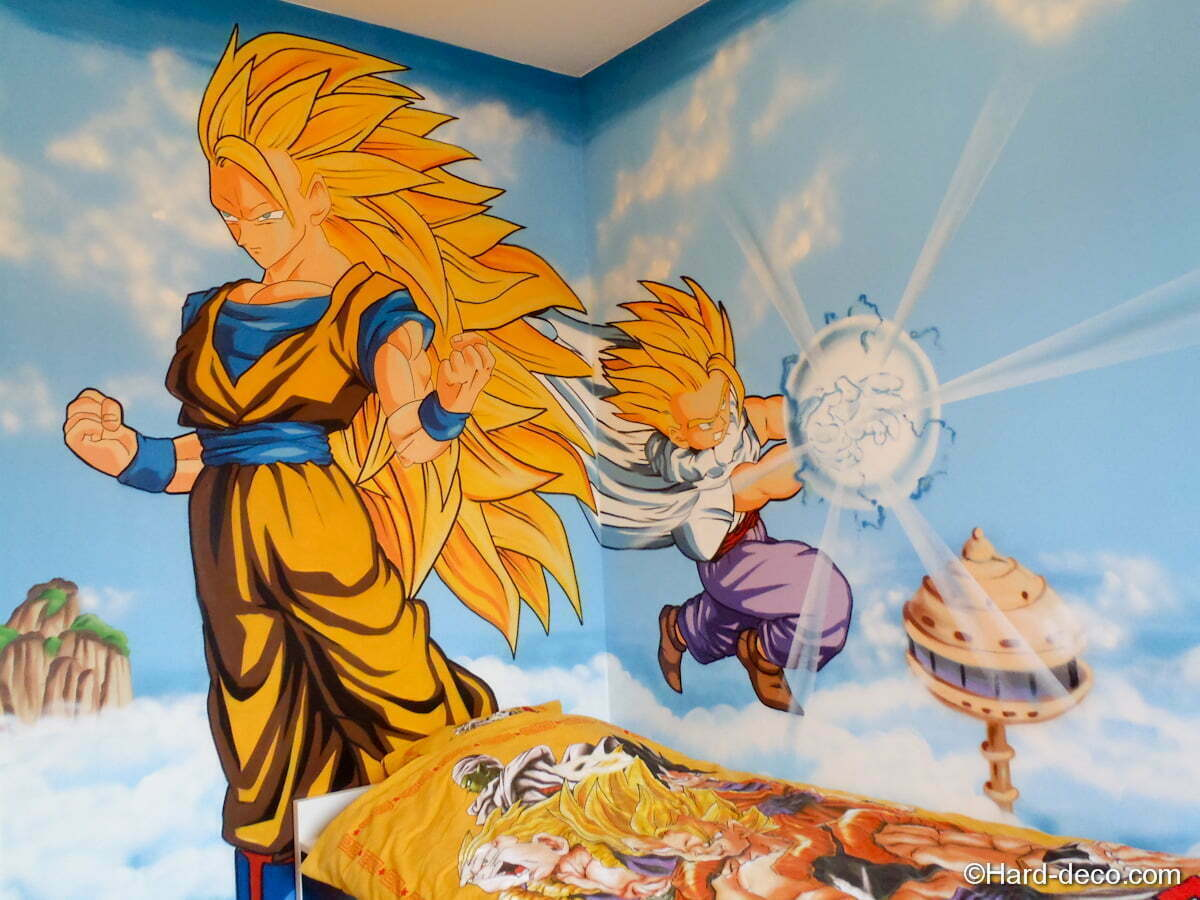 Chambre dragon ball z hard deco for Decoration dragon ball