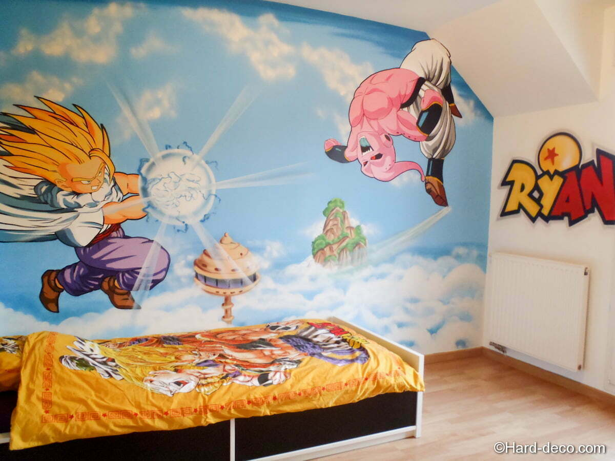 chambre dragon ball z hard deco