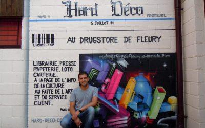 Déco librairie graffiti