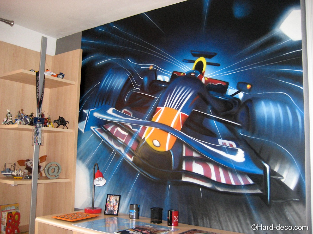 fresque graffiti f1
