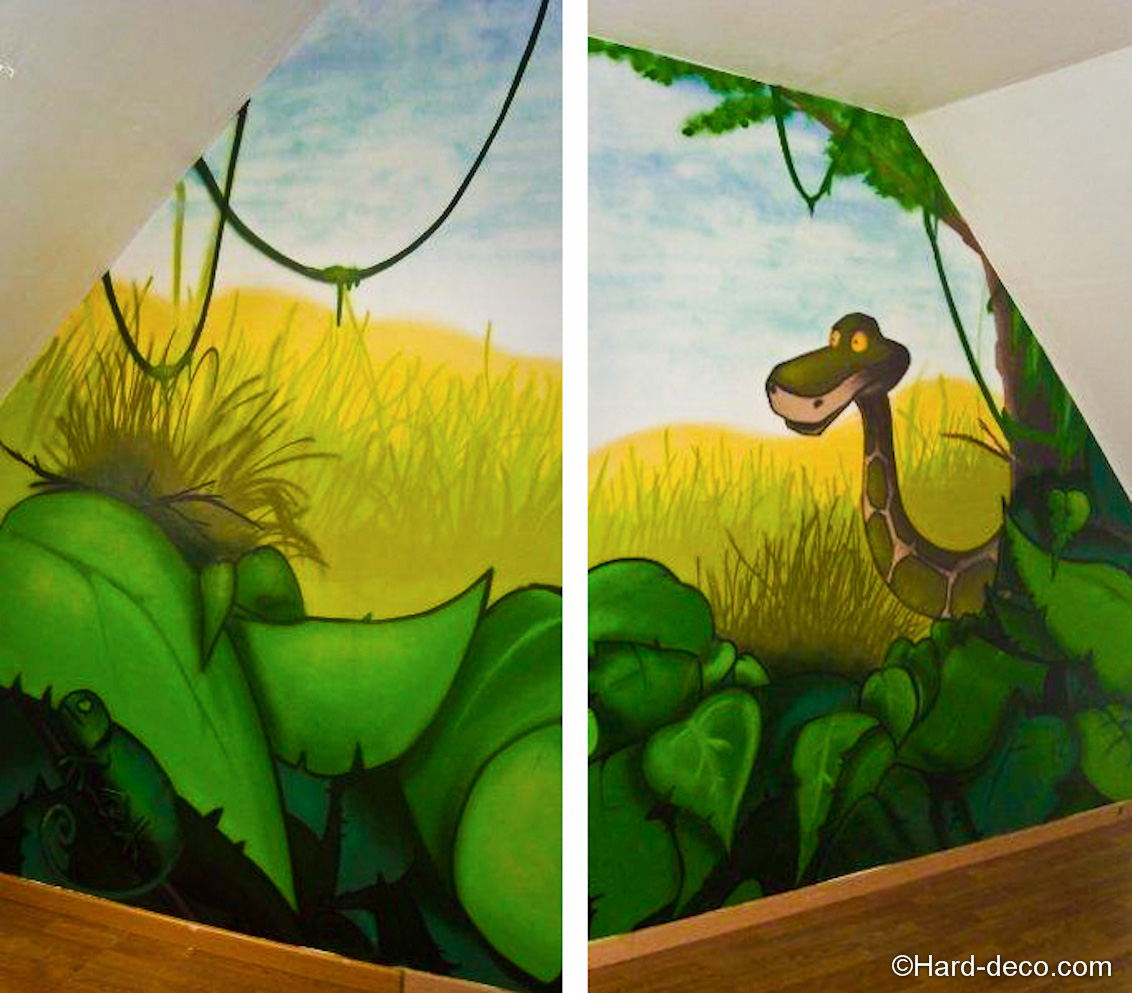 Chambre Petite Fille Oiseau : Chambre jungle et savane