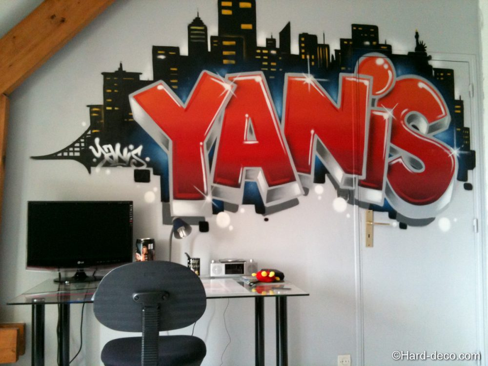 graffiti yanis new york hard deco. Black Bedroom Furniture Sets. Home Design Ideas