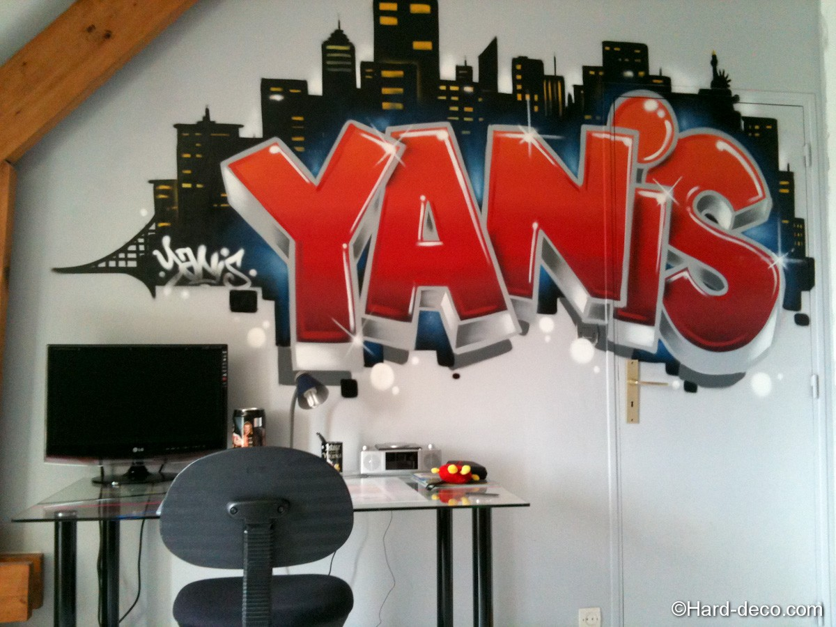 Graffiti yanis new york hard deco - Decoration bureau new york ...