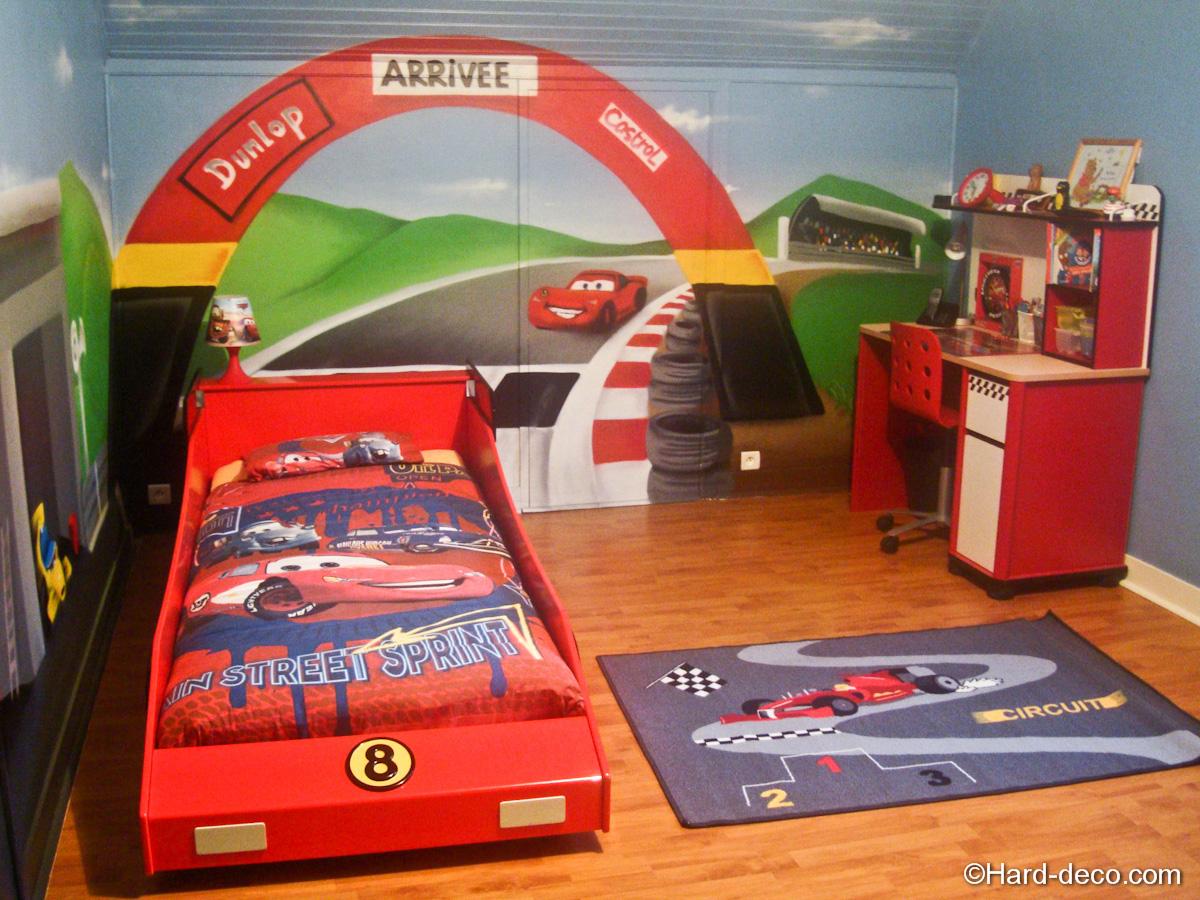 Chambre cars avec circuit hard deco - Dormitorios de cars ...