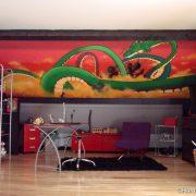 Fresque murale Dragon