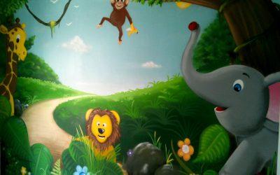 Chambre bébé animaux de la jungle