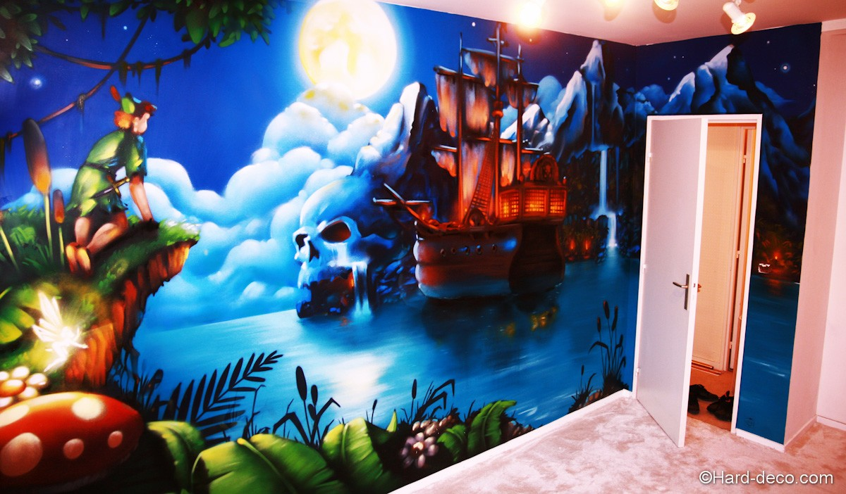 Chambre peter pan hard deco for Decoration pirate pour chambre
