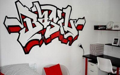 Prénom graffiti Basil