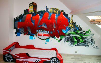 Graffiti chambre Alane