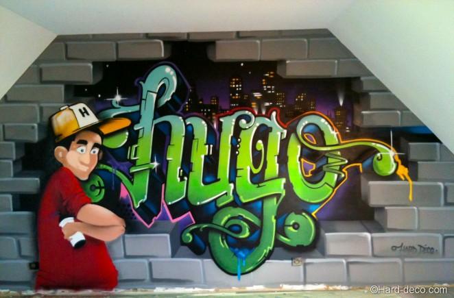 Graffiti chambre d'Hugo