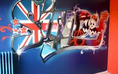 Prénom Sindy graffiti