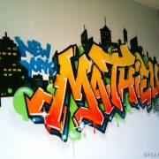 Prénom graffiti Mathieu