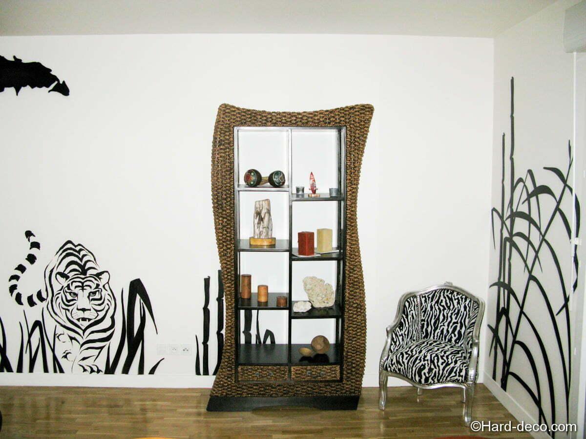 Salon design savane africaine - Hard Deco