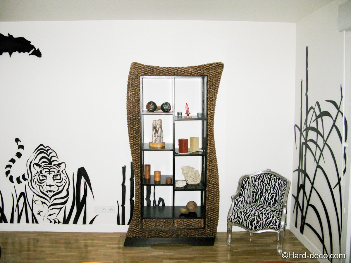 salon design savane africaine hard deco. Black Bedroom Furniture Sets. Home Design Ideas