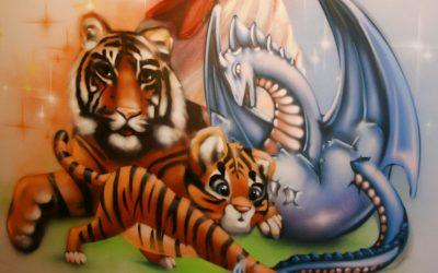 Fresque murale signe astrologique