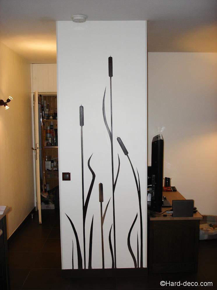 Décoration salon roseaux design