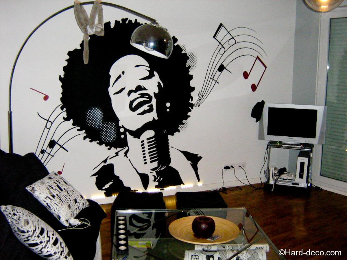 d coration soul musique hard deco. Black Bedroom Furniture Sets. Home Design Ideas