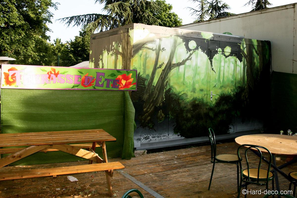 Fresque sur cabanon vue au coeur d 39 une for t for Exterieur nature