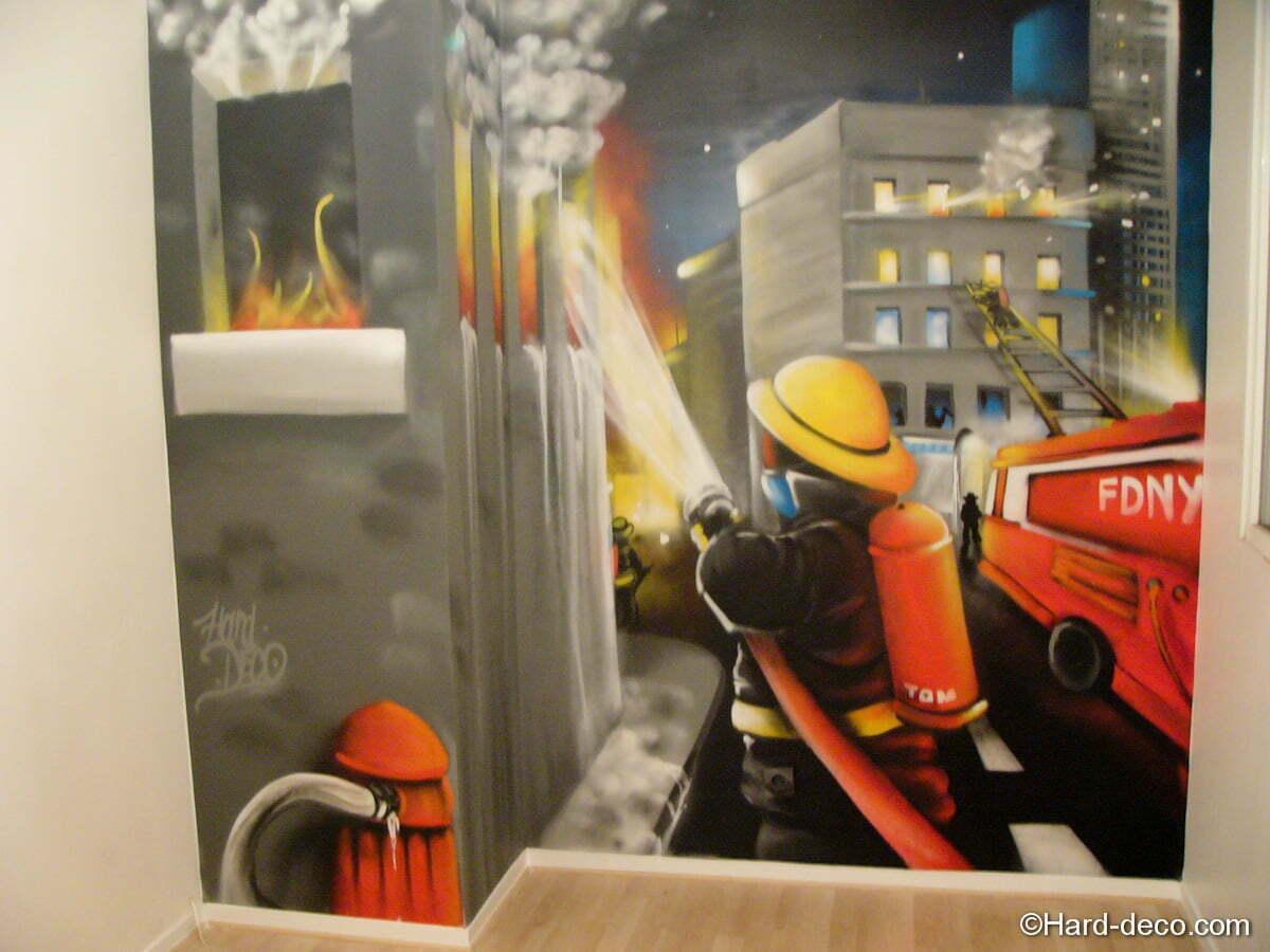 Deco chambre pompier