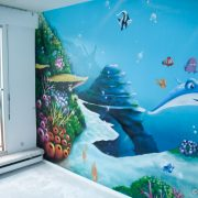 Fresque murale fond marin de Nemo