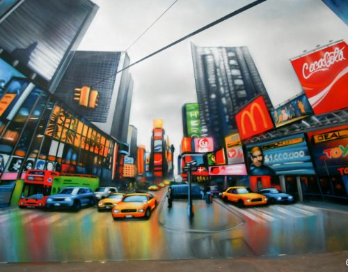 Fresque Time Square New York