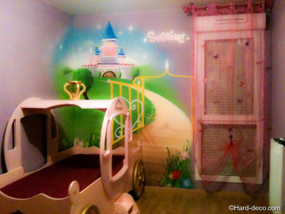 D coration chambre princesse lit carrosse hard deco - Deco chambre princesse ...