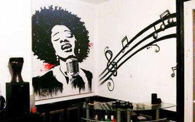 Décoration salon thématique musique