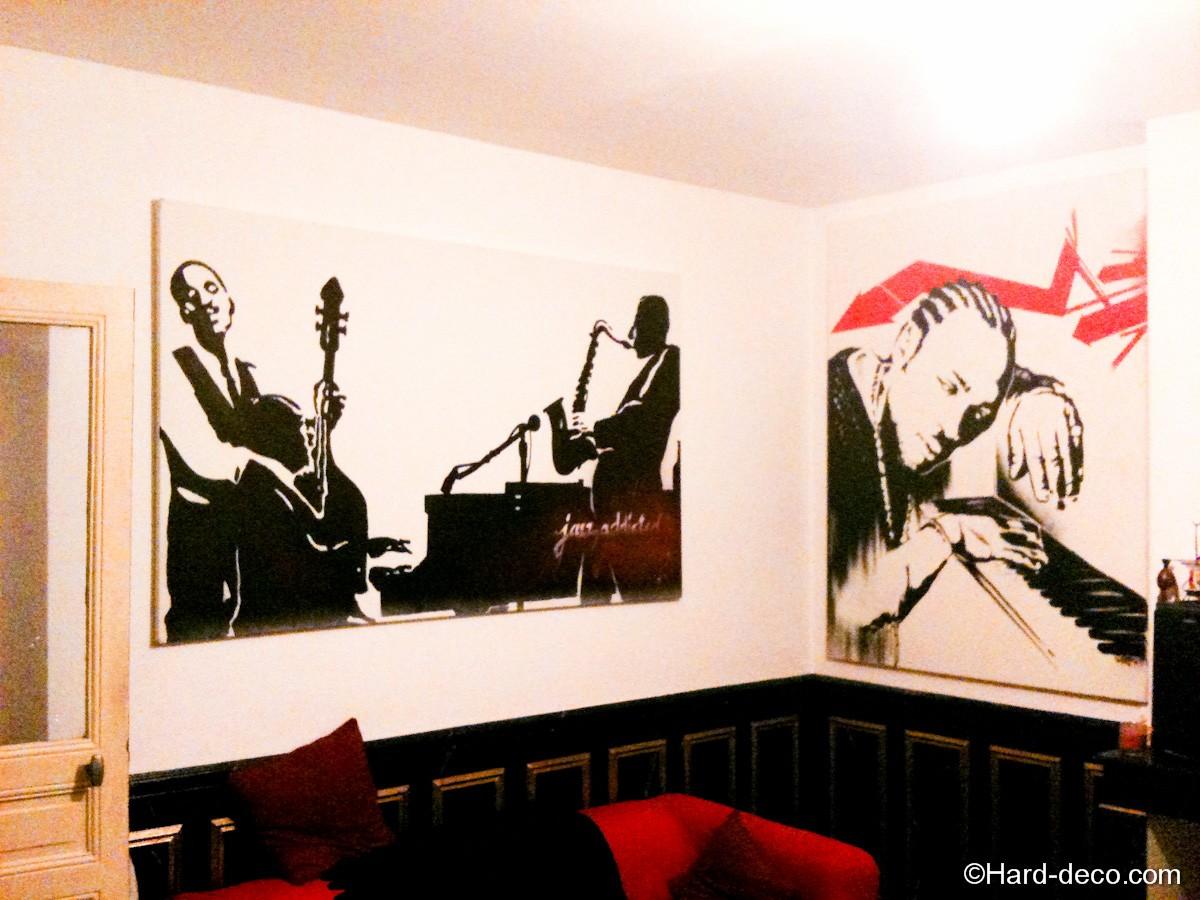 d coration salon th matique musique hard deco. Black Bedroom Furniture Sets. Home Design Ideas