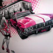 Design salon pin-up et Cadillac