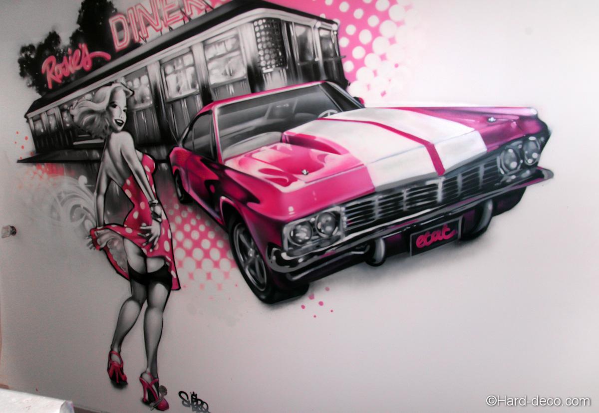 Voitures D 233 Coration Graffiti Hard Deco