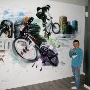 Chambre d'Ylan : BMX style