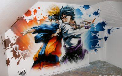 Chambre Naruto vs Sasuke