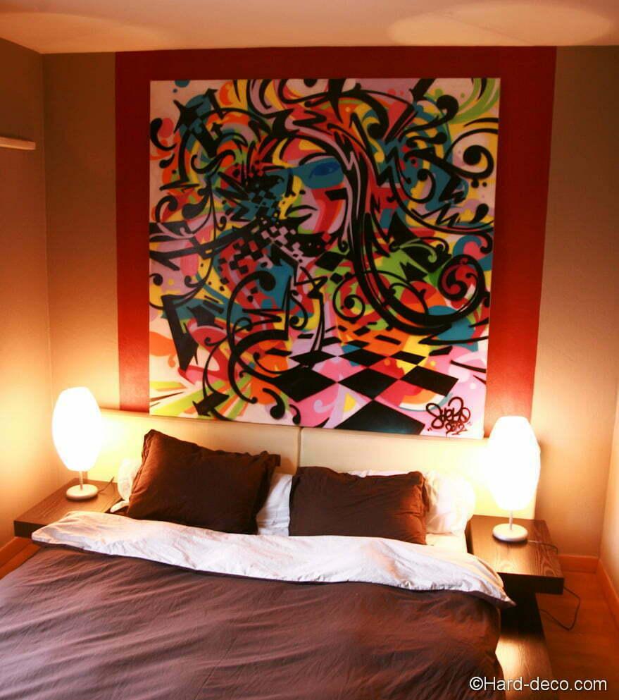 toile portrait musical abstrait hard deco. Black Bedroom Furniture Sets. Home Design Ideas