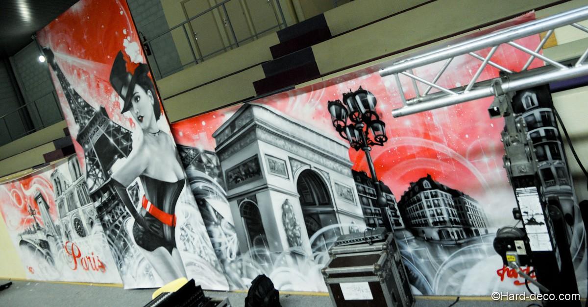 toile arc de triomphe graffiti paris tendance