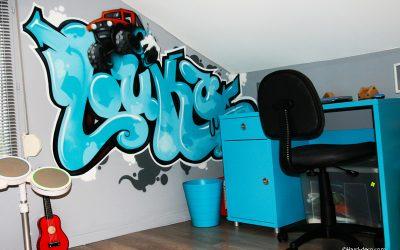 Prénom graffiti Louka