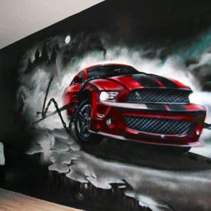 Decoration graffiti Ford Mustang