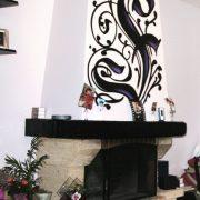 Décoration cheminée baroque