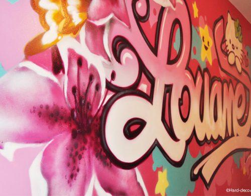 Fresque du prénom Louane