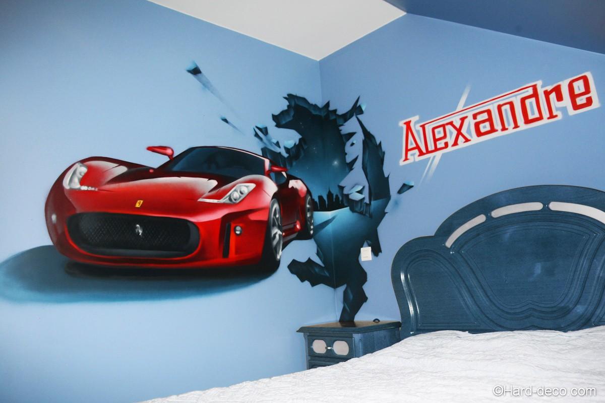 Fresque Ferrari dans la chambre d'alexandre