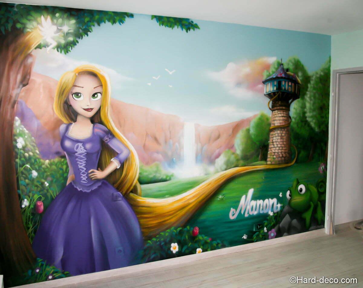 décoration chambre fille raiponce