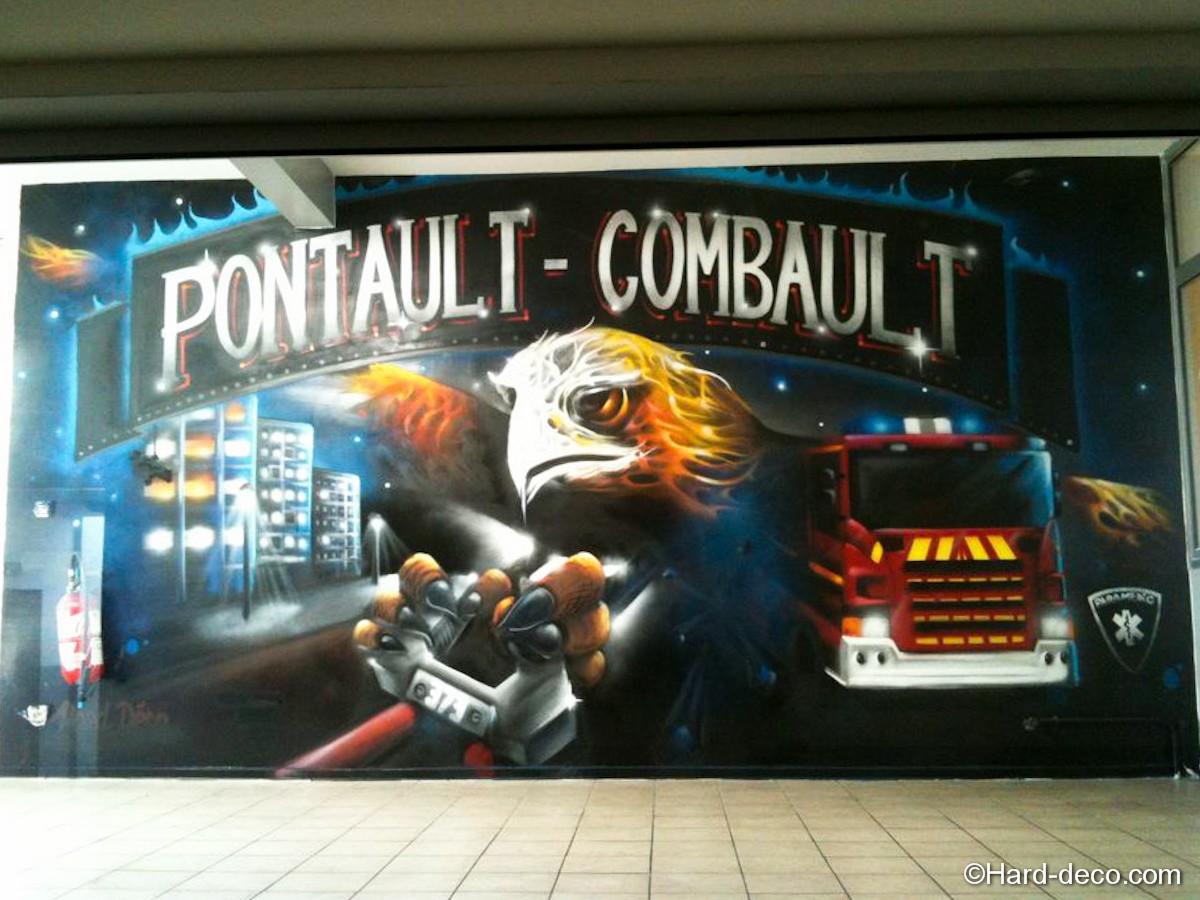 Fresque caserne pontault combault