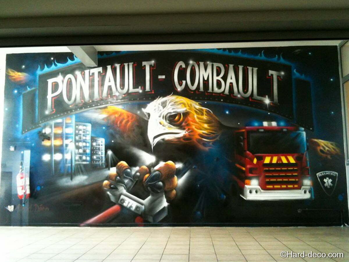 Pompiers police d coration graffiti hard deco - Chambre garcon pompier ...