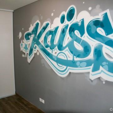 fresques d cors muraux et graffitis pour chambre de gar ons. Black Bedroom Furniture Sets. Home Design Ideas