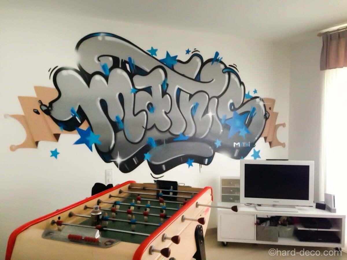 graffiti interieur maison. Black Bedroom Furniture Sets. Home Design Ideas