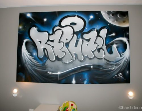 Toile graffiti Raphaël