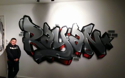 Graffiti chambre Rayan