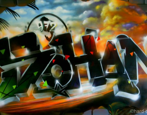 Toile graffiti Sohan Paradise