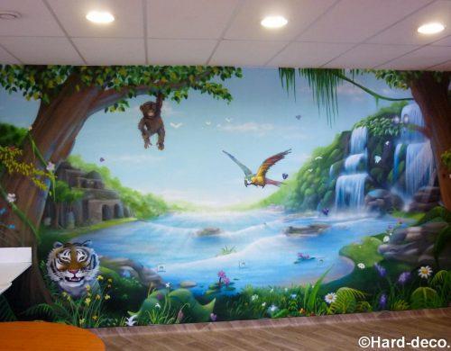 Fresque jungle