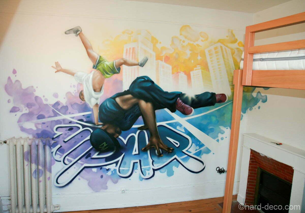 Hip hop theme terrasse en bois - Deco ch ambre ado ...