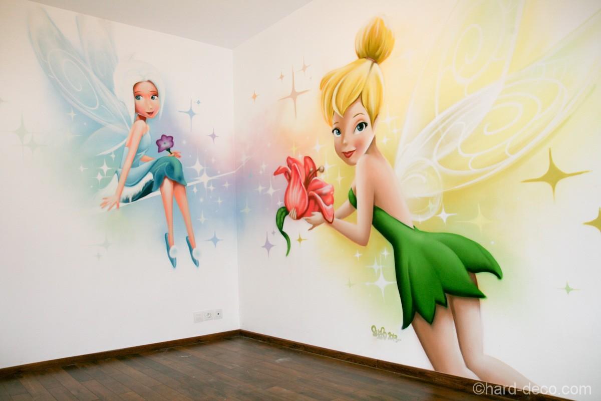 Fresque D Coration Murale F E Cristal Et Clochette Sur